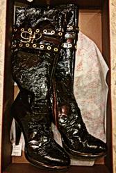 Сапоги,  лакированные,  кожаные,  осенне-весенние,  Sasha Fabiani,  новые